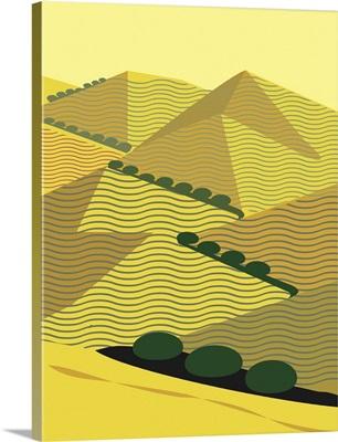 California Hills in Ochre