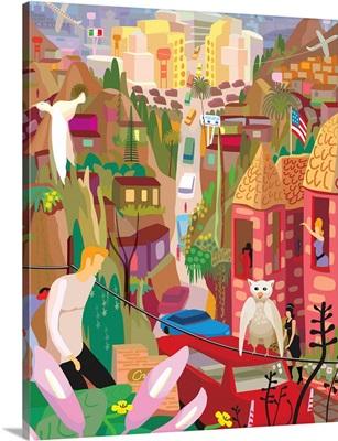 Fantasy Canyon and City Scene