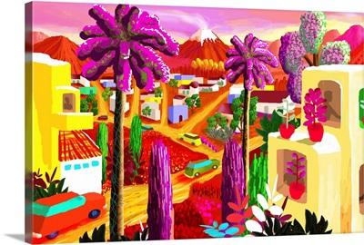 Latin Community with Purple Palms