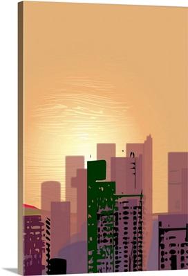 Sunset over California Street