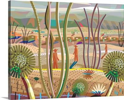 Trees in Desert