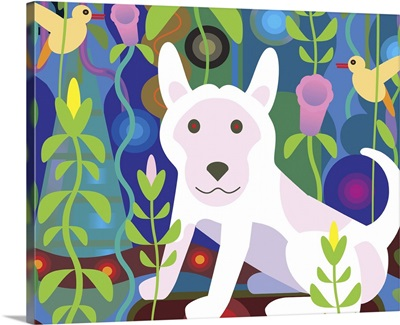 White Dog in Jungle (Horizontal)
