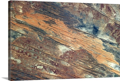 A lot of the Australian Outback looks like somebody spilled something on it
