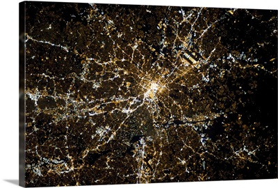 Atlanta, Georgia, clearly visible from the Space Station