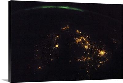 Aurora over England and Ireland