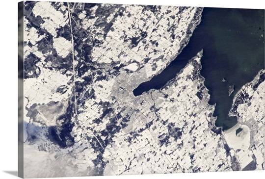 Barrie, ON in snow - seen from the International Space Station