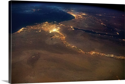 Cairo, Egypt with a view of Israel