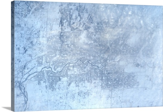 Calgary in the Snow, on New Year's Eve, from the International Space Station