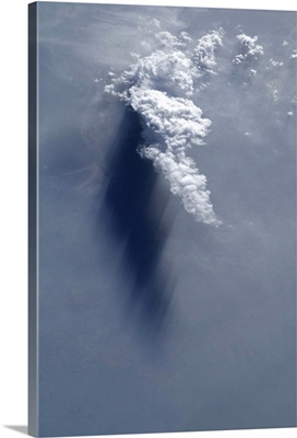 Cloud and shadow, late afternoon over the Ganges River delta