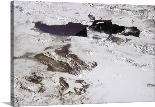 Great Salt Lake and the Bonneville Salt Flats, Salt Lake City just visible