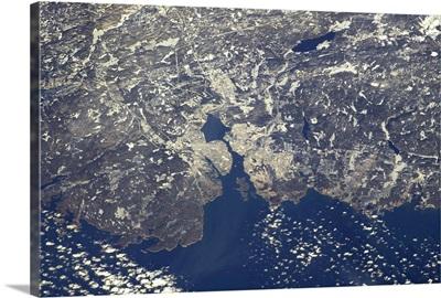 Halifax, Nova Scotia, on a crystal clear day