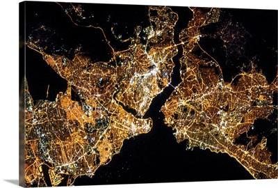 Istanbul in Turkey at Night