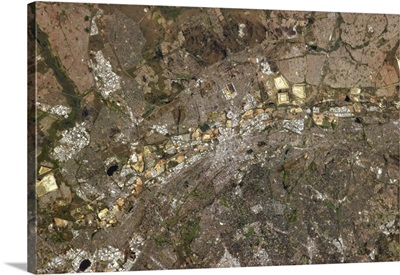 Johannesburg, South Africa, distinctively multi-coloured on the Witwatersrand range