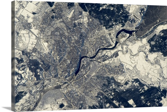 Kiev, Ukraine - a historic major crossing place of water, rail and road