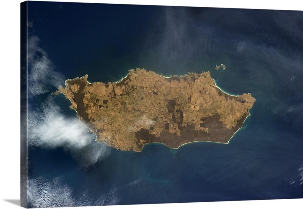 Map Of Australia King Island.King Island Tasmania Australia Land Use And Nature Preserve Visible From Earth Orbit