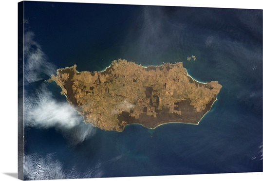 King Island, Tasmania, Australia - land use and nature preserve visible from Earth orbit
