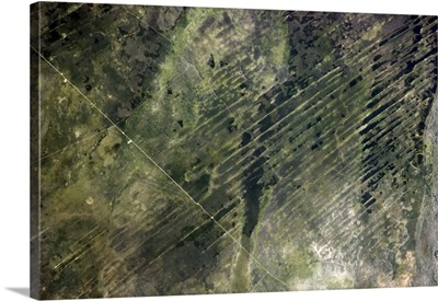 Lines on the Earth, natural and human-made, in south-central Africa