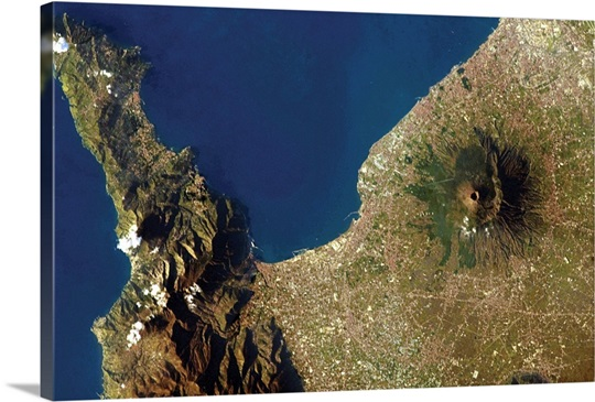 Mt. Vesuvius, Italy, on New Year's Day, 2013, from the International Space Station