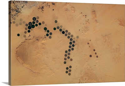 Polka-Dot Desert - centre-point irrigation farms in Egypt
