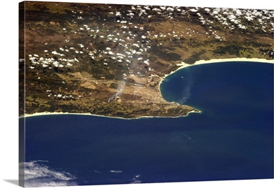 Port Elizabeth, South Africa, with the wind out of the west