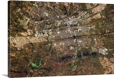 Pretoria, South Africa, visible between the Highveld and the Bushveld