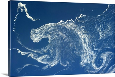 Psychedelic ice swirls off the N Japan coast