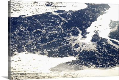 Sackville, New Brunswick - on the last day of 2012, as-seen from space