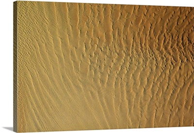 Sands of Namibia, a rippling texture of stark beauty from space
