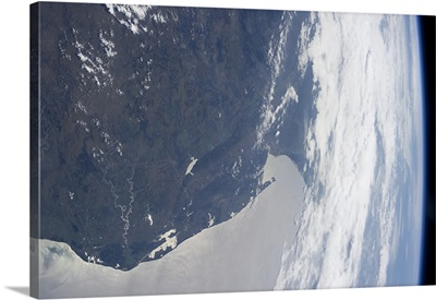 South Africa's east coast, to the horizon on the Indian Ocean