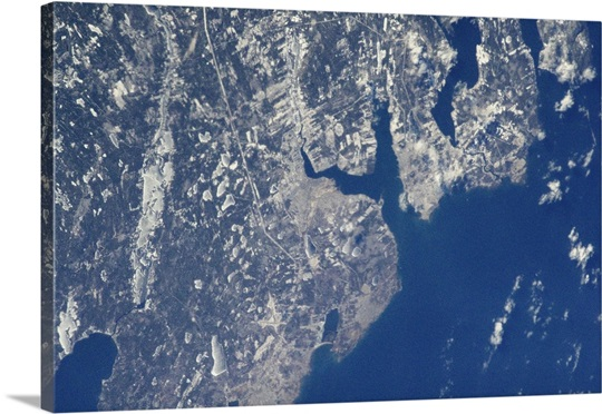Sydney, Nova Scotia, on a clear winter's day