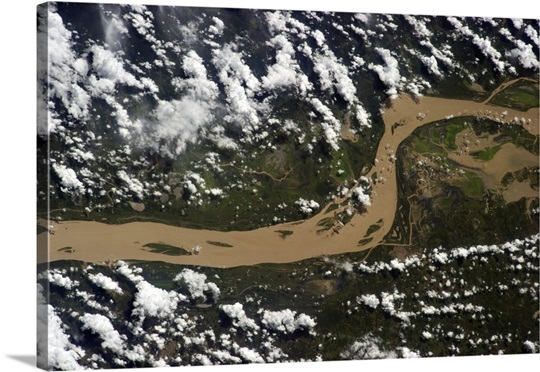 The Amazon. A hugely impressive river, even from orbit