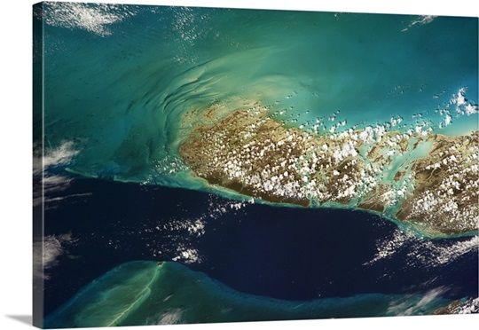 The deep waters of the 'Tongue of the Ocean', Andros Island, the Bahamas