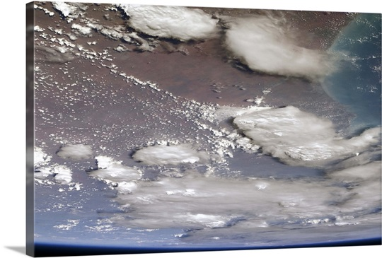 The pall of smoke clouds over Australia, as seen from orbit