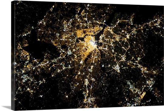 Washington DC on Saturday night of the Inaugural Weekend