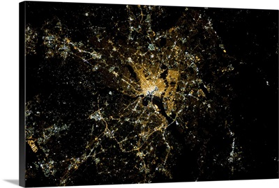 Washington, DC - the Beltway and the Mall both visible from Earth orbit