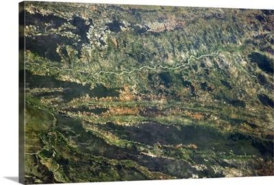 Zambia, from orbit