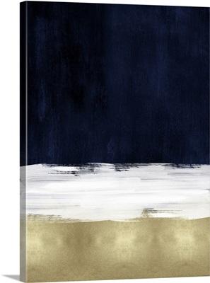 Abstract 3 Tones Indigo