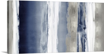 Abstract 5 Tones Silver Blue