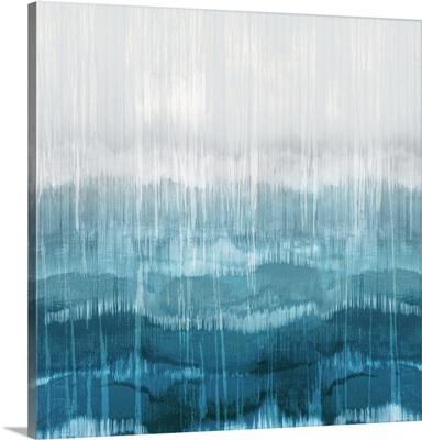 Abstract Drip Aqua