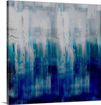 Abstract Drip Blues Dark