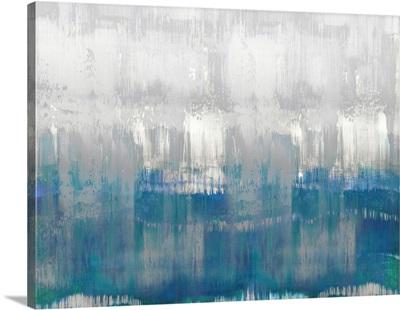 Abstract Drip Blues Grey