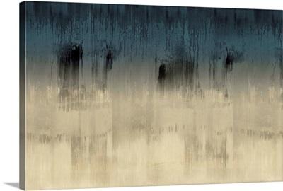Abstract Drip Blues Tan