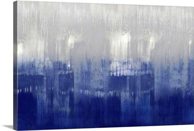 Abstract Drip Indigo