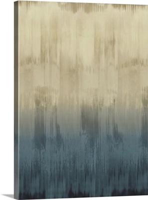 Abstract Drip Light Blue Tan