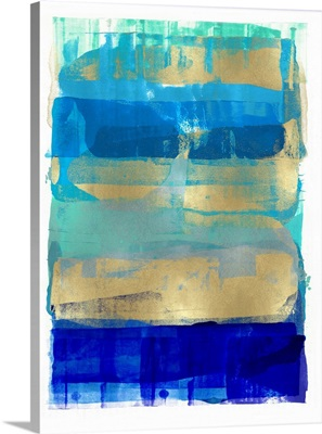 Abstract Expressions Blues and Gold