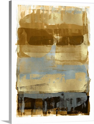 Abstract Expressions Browns and Gold