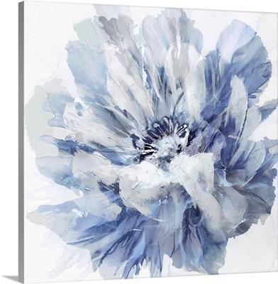 Abstract Flower II Indigo