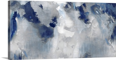Abstract Indigo Stains 2