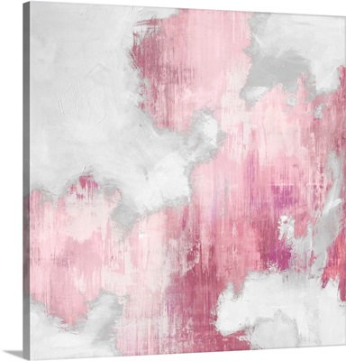 Abstract Pink II White