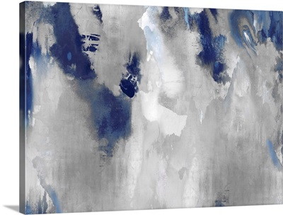 Abstract Silver Stains Indigo